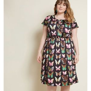 Modcloth surefire fun butterfly lisa luxe dress